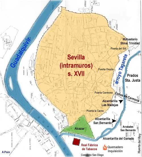 mapa Sevilla XVII